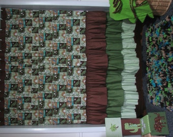 12 Piece Dinosaur Shower Curtain Package-Brown and Green SALE was 75