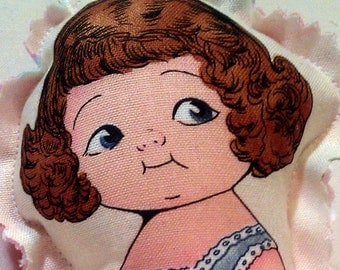 Olivia - Cute Fabric doll - retro like