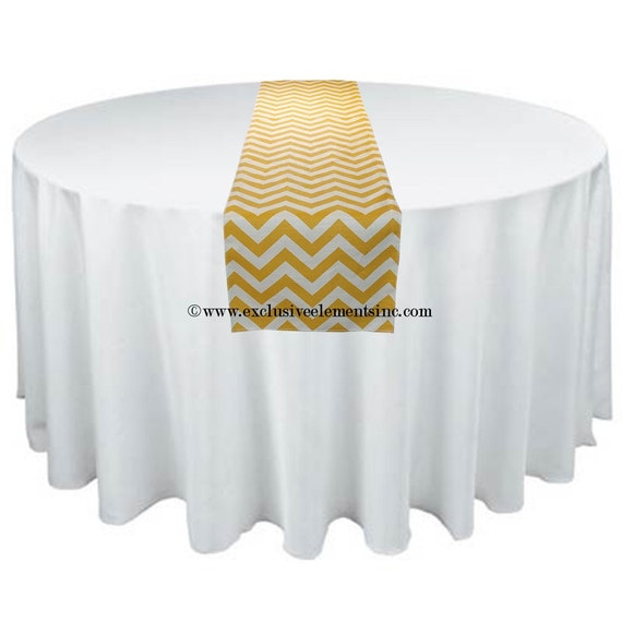 Yellow Table Runner Chevron Zig Zag Stripe Wedding Table Centerpiece Linens Yellow Table Decoration Wedding Decor