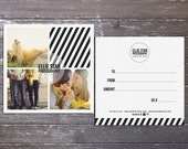 Ellie Modern double sided gift certificate design - Instant download