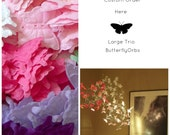 Butterfly Mobiles, Baby Crib Mobiles, Nursery Mobiles, Childrens Play Room, Baby Mobiles