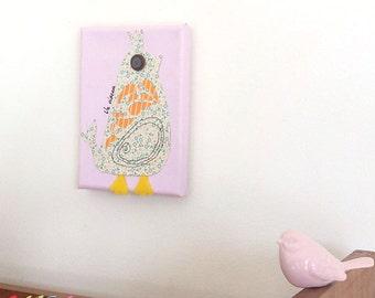 Children, Art, Nursery Decor, Kids wall art, Children decor, Kids decor, Canvas 5 x 7 inch