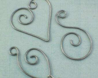1 Charm Holder - Nickel Silver, Stainless, Copper, Brass, Bronze, Sterling Silver, Argentium, 14kt Gold Filled