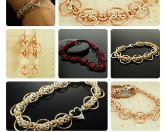 Byzantine Circles Bracelet and Earrings Tutorial - Expert PDF
