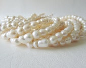 Freshwater Cultured Baroque Twin Peanut Pearls, Full Strand
