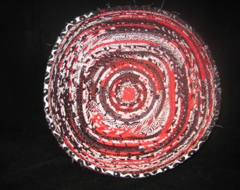 Red, White and Black Square Fabric Basket