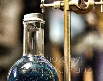 5x7 Weird Science Blue Potion Photo