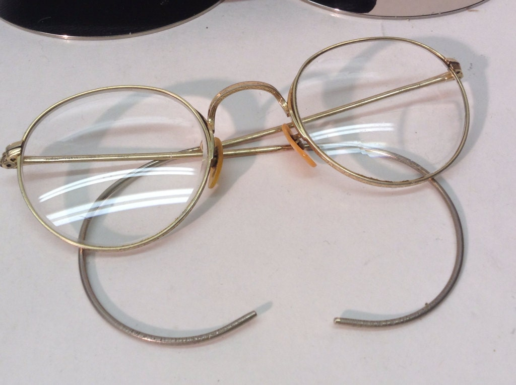 vintage b l bausch and lomb eye glasses 1 10 12k gf arco