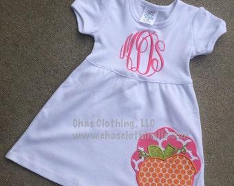 Personalized Monogrammed Pumpkin Dress