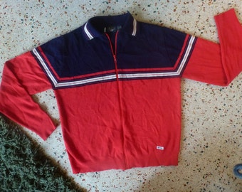 Ketch 1980s zip sailing sweater size large
