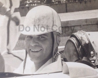 Vintage photo race car driver international playboy 8 x 10