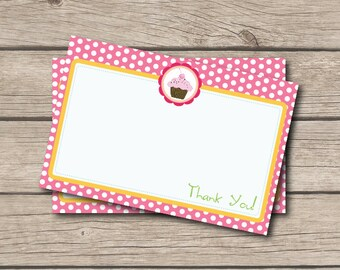 Cupcake Thank You Note - Cupcake Party Supplies Thank You Card - Digital Printable Thank You - Cupcake Party - Cupcake Thank You Note