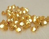 Pinched 24-Karat Gold Czech Glass Beads 5x3mm 50 Beads Per Strand