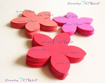 """84  Flower II Die cuts Size 1.75"""" -Flower Labels -Paper Flower tags -Cardstock Flower die cuts -Paper tags -Paper Flower Labels"""