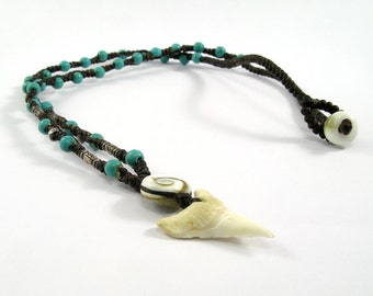 Shark tooth handmade necklace