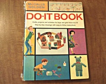 Children's Craft Book, DO-IT Book, Vintage Crafting, children's Activities, Holday Fun, Kids Fun,Projects, Family Fun,Vintage,Clay, Knitting