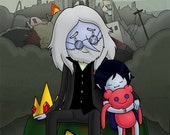 "11""x17"" Simon and Marcy Adventure Time Poster Print"