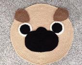 Crochet Pug rug