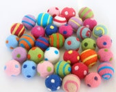 Set of 4 Cat Toy Balls - Wool Felted
