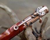 Handcrafted 30 Caliber Bullet Bolt Action Deer Hunter Antique Copper Engraved Handmade Pen Great Christmas Stocking Stuffer by CraftCrazy4U