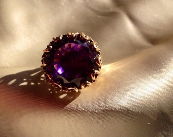 Awesome amethyst ring