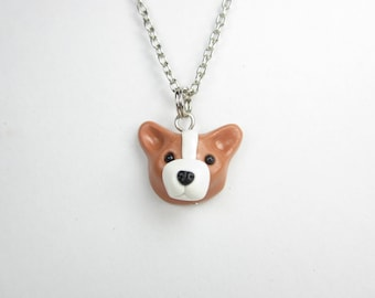 Pembroke Welsh Corgi Necklace pendant - dog jewelry ,miniature animal dog