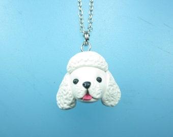 Poodle Necklace pendant - dog jewelry ,miniature animal dog