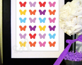PRINTABLE PDF Instant Download Butterfly Print