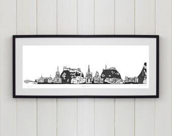 Edinburgh Skyline Limited Edition Screen Print