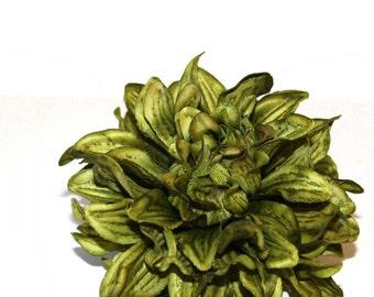 1 Large Avocado Green Silk Dahlia - Artificial Flower - PRE-ORDER