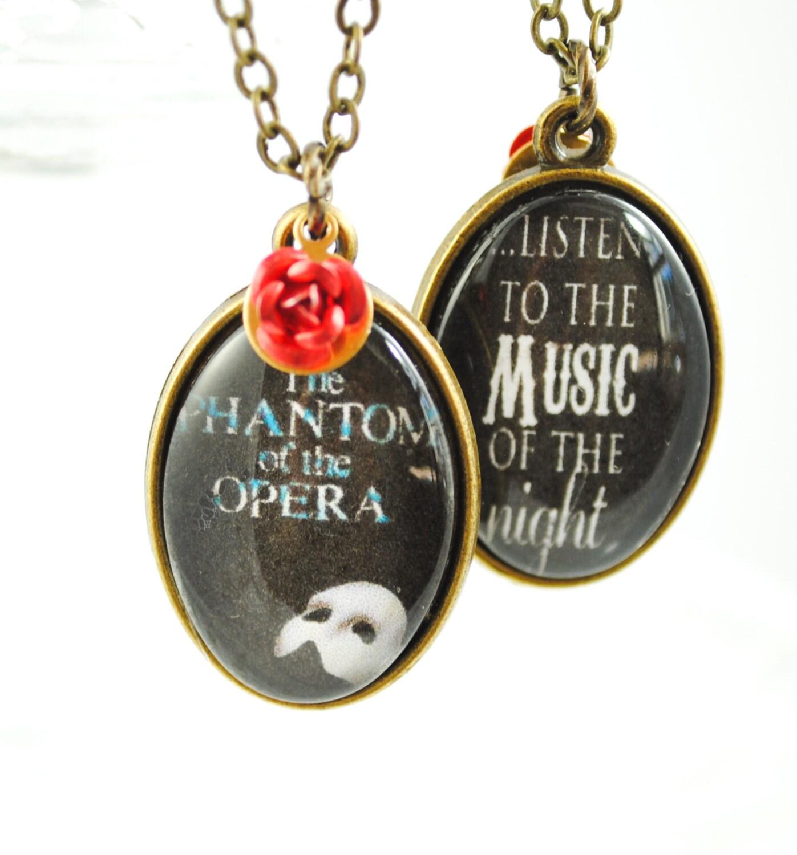 Phantom of the Opera Necklace Music of the Night Broadway