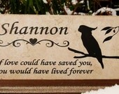 Free Shipping  Cockatoo Grave Marker 12x6 - Personalized - No Maintenance