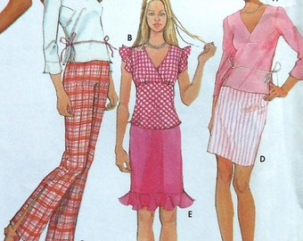 Teen Skirt, Top, and Pants Sewing Pattern UNCUT Simplicity 7185 Jr. sizes 3/4-9/10