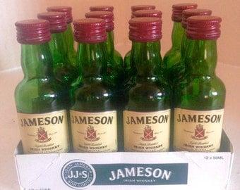 12 Empty 50mL Jameson Bottles