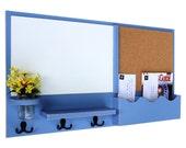 Mail Organizer - Cork Board - White Board - Message Center - Coat Rack - Jar Vase - Wood