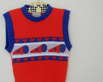 Vintage Girl's 1980s 1990s Sweater Vest by Health-tex - Size 4T 5T