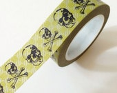 Skull Washi Tape Masking Tape Green Black