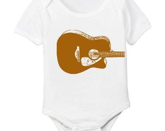 Guitar Organic Baby Bodysuit