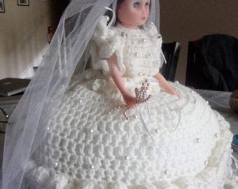 CROCHET DOLL-Crocheted Bride Doll