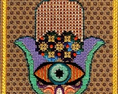 Hamsa Needle Point, Embroidery PDF, Needle Art PDF, Diy Embroidery, Thread Pattern, Needle Art Download, Thread Design PDF