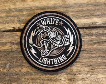 "White Lightning - 3.5"" Embroidered Patch"