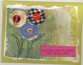 Vintage Quilt Birthday Greeting Card - Friend