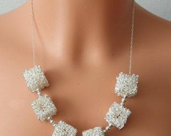 Metal Cubes Necklace