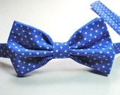 Periwinkle Polka Dot Child Bow Tie Blue Boys Bow Tie Bow Ties Child Bow Ties