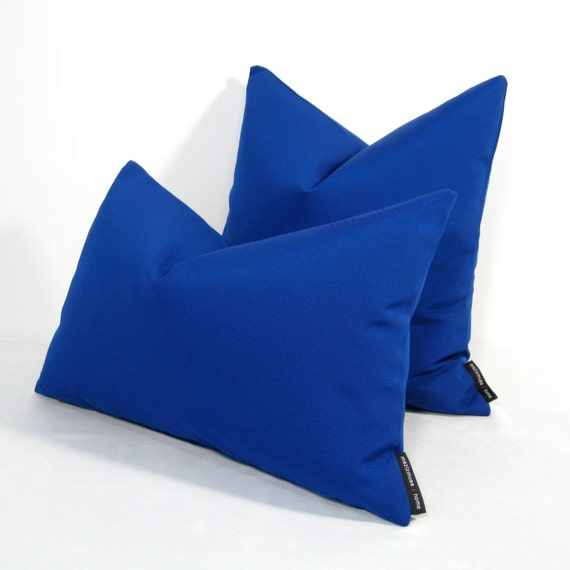 Royal Blue Outdoor Throw Pillows : Royal Blue Pillow Cover Decorative OUTDOOR Pillow by Mazizmuse