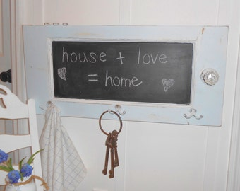 coat rack chalk board shabby chic painted furniture