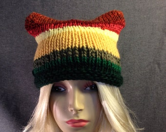 Rasta Kitty Ear Hat Free Shipping