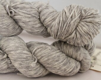 Variegated Gray and White Reclaimed Wool Yarn, Sport Yarn - 543 Yards
