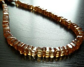 1/2 Strand - Honey Quartz Square Rondelles (No. 1482)