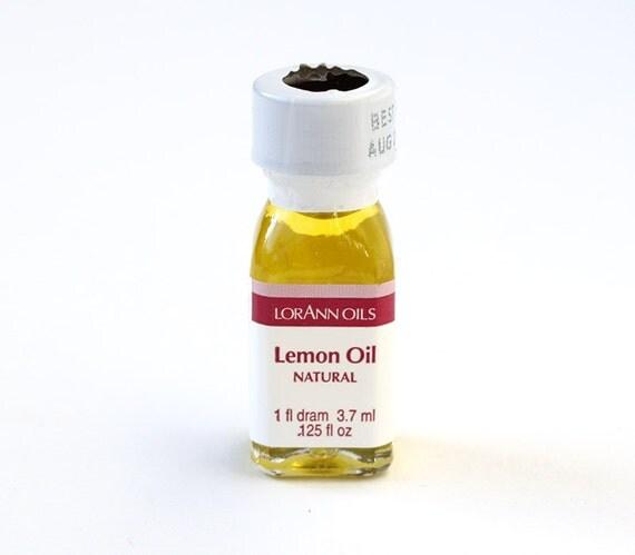 LorAnn Lemon Oil, Lemon Hard Candy Flavoring, Lemon Icing Flavoring, Concentrated Fruit Flavoring (1 dram)